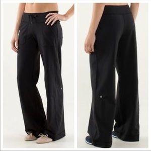 Lululemon Black Be Still Wide Leg Flare Yoga Pants